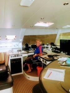 Jon on the dreamboat Gizmo